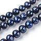 Hebras de perlas de agua dulce cultivadas naturalesPEAR-R018-14-2