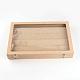 Boîtes d'affichage pendantes en bois et en boisODIS-R003-10-2