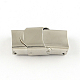 Smooth Surface 201 Stainless Steel Watch Band Clasps STAS-R063-61-1