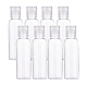 60 ml botellas de tapa superior de disco de plástico recargables para mascotas transparentesMRMJ-WH0037-05B-1