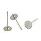 304 Stainless Steel Flat Round Blank Peg Stud Earring FindingsSTAS-S028-24