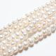 Grado de hebras de perlas de agua dulce cultivadas naturalesSPPA005Y-1-5