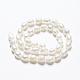 Hebras de perlas ovaladas de agua dulce cultivadas naturalesPEAR-R015-45-4