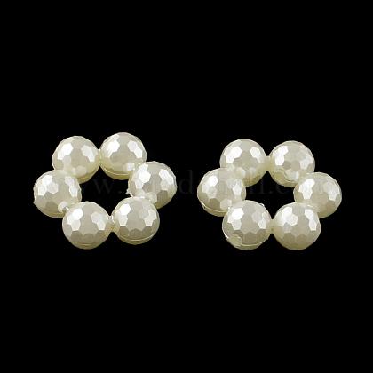 Marcos de cuentas de perlas de imitación de plástico de donut absOACR-R016-30-1