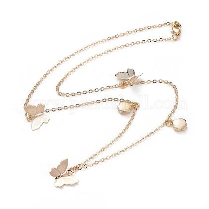 Collares pendientes de latónNJEW-JN02678-02-1