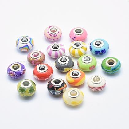 Handmade Polymer Clay European BeadsCLAY-K002-L27-1