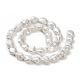 Hebras de perlas keshi de perlas barrocas naturalesPEAR-K004-31-3
