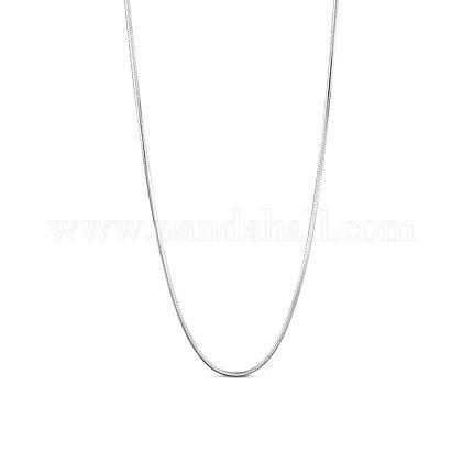SHEGRACE® 925 Sterling Silver Snake Chain NecklacesJN734A-1
