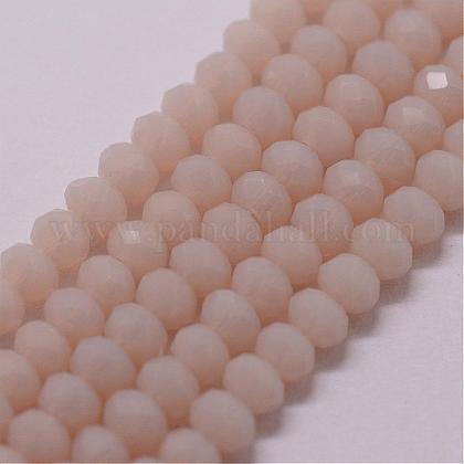 Imitation Jade Glass Bead Strands GLAA-K013-02-1