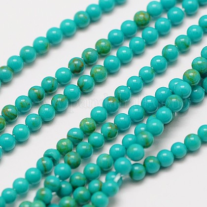 Imported Natural Turquoise Bead StrandsX-G-A130-2mm-L05-1