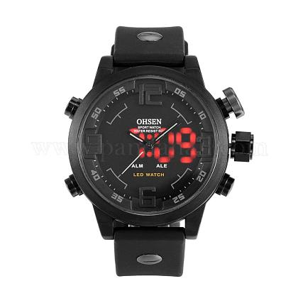 Fashion Plastic Men's Electronic Wristwatches WACH-I005-01D-1