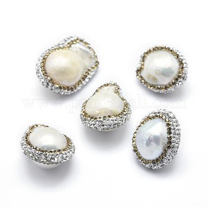 Perlas barrocas naturales perlas cultivadas de agua dulceRB-A062-008-1