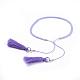Adjustable Nylon Thread Charm BraceletsBJEW-JB04378-01-3