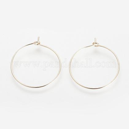 Brass Hoop EarringsKK-S327-09KC-1