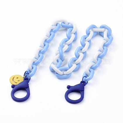 Collares de cadena de cable de acrílico personalizadosNJEW-JN02884-01-1