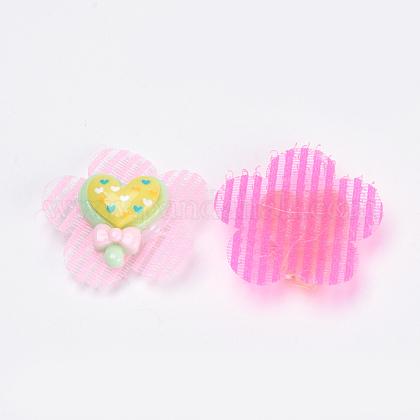 花のナイロンマジックテープのヘアクリップOHAR-S193-51-1