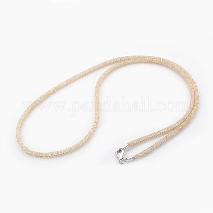 Collares de cadena de malla de latónNJEW-F241-01G-A-1