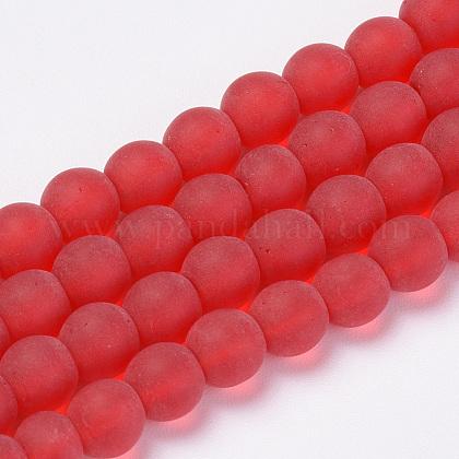 Chapelets de perles en verre transparente  GLAA-Q064-06-4mm-1