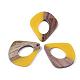 Colgantes de resina y madera de nogalRESI-S358-06H-1