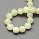 Tache verte naturelle jasper perles rondesG-S160-8mm-2