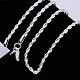 Brass Rope Chain Necklace MakingNJEW-BB10880-20-1