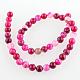 Chapelets de perles rondes en pierre d'agate naturelleG-E233-05-2