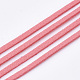 Faux Suede Cord, Faux Suede Lace, LightCoral, 2.5~2.8x1.5mm; about 1m/strand