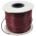 Korean Waxed Polyester Cord, Bead Cord, DarkRed, 0.8mm; about 185yards/roll
