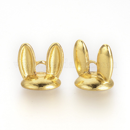 Tibetan Style Alloy Bunny Ears Bead Cap BailsX-TIBE-S308-43G-1