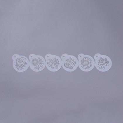 Экологически чистые пищевые пластиковые шаблоны Молды для торта с распылителемDIY-G020-15-1
