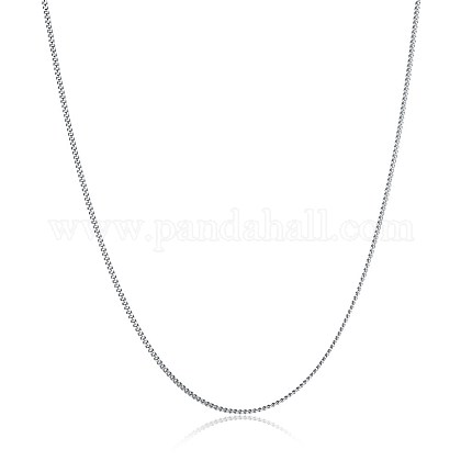 925 Sterling Silver Chain NecklacesNJEW-BB30138-18-1