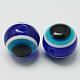 Redondas abalorios de resina mal de ojoRESI-R159-6mm-08-1