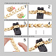 Shegrace® brazaletes de banda de reloj de cadena de pantera de acero inoxidableJB674A-4