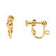 Brass Screw On Clip-on Earring FindingsKK-L164-01G-3