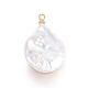 Colgantes naturales de perlas cultivadas de agua dulcePEAR-E300-08KCG-3