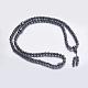 Collares budistas hematites sintético no magnéticosNJEW-K096-04-1
