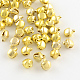 Iron Bell Charms, Golden, 9.5x8x7mm, Hole: 1~2mm
