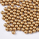 ABS Plastic Imitation Pearl Beads, Matte Style, No Hole/Undrilled, Round, DarkGoldenrod, 5mm, about 5000pcs/bag
