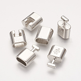 Alloy Snap Lock Clasps, Platinum Color, Size: about 14mm wide, 32mm long, 8mm thick, hole: about 6mm wide, 11mm long