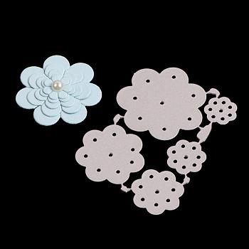 花フレーム炭素鋼切削ダイスステンシル  DIYスクラップブッキング/フォトアルバム用  装飾的なエンボス印刷紙のカード  つや消しプラチナ  6.5x4.8x0.08cm