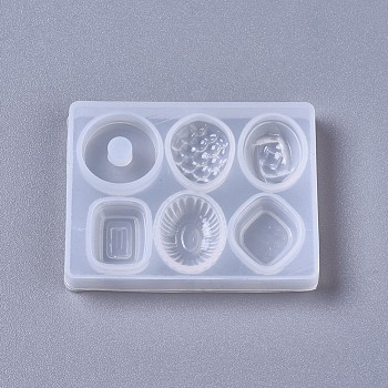 Silicone Molds, Resin Casting Molds, For UV Resin, Epoxy Resin Jewelry Making, Candy, White, 48x37x6mm