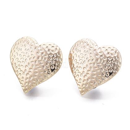 Brass Stud EarringsKK-N231-04-NF-1