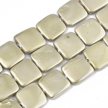 Hebras de perlas de concha pintadas con spraySSHEL-R045-03B-01-1
