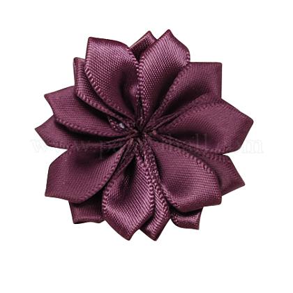Tejidas hechas a mano los accesorios del traje de flores de color púrpuraX-WOVE-QS17-17-1