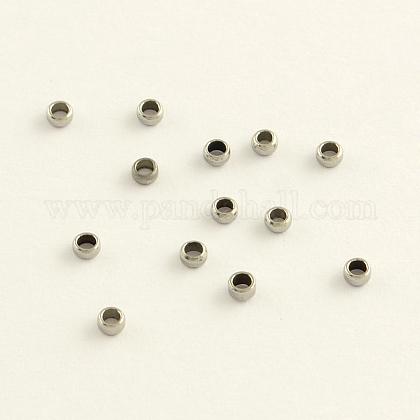 304 de acero inoxidable engarzado cuentasSTAS-R065-30-1