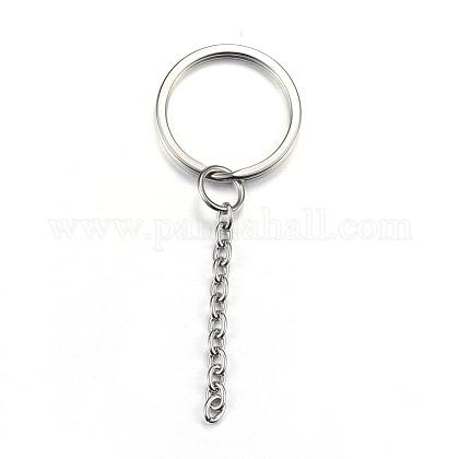 304 Stainless Steel Split Key RingsX-STAS-G085-09-1