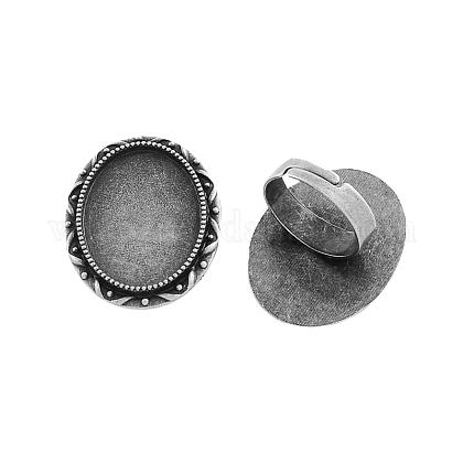 Supports réglables de bague de doigt en fer de vintageX-PALLOY-Q300-07AS-NR-1