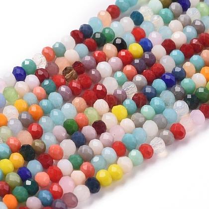 Imitation Jade Glass Beads StrandsGLAA-E415-01B-1