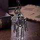 Adjustable Men's Zinc Alloy Pendant and Leather Cord Lariat NecklacesNJEW-BB15999-6