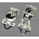 Iron Clip-on Earrings FindingsX-KK-15X9-1